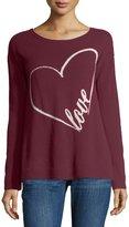Neiman Marcus Cashmere Love Intarsia Sweater