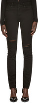 Alexander Wang Black Destroyed Jeans