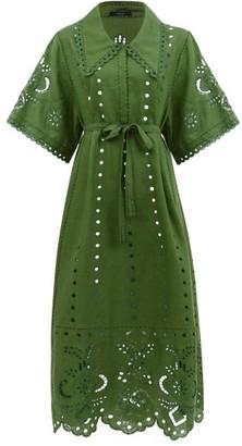 Vita Kin - Charlotte Broderie-anglaise Linen Dress - Green