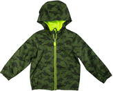 Carter's Boys' Windbreakers and Shell Jackets GREEN - Green Dinosaur Zip-Up Jacket - Infant, Toddler & Boys