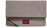 Henri Bendel Striped Canvas Foldover Clutch