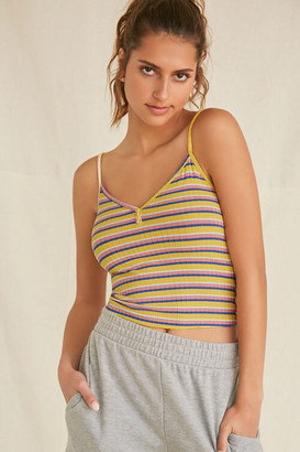 Forever 21 Striped Henley Cami