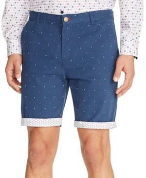 Tallia Men's Modern-Fit Stretch Mini Star Print Shorts