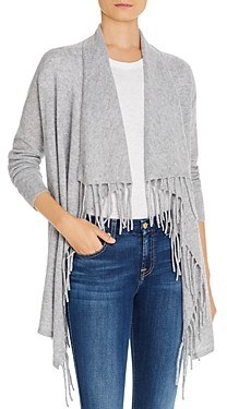 Bloomingdale's C by Fringe Trim Cashmere Cardigan - 100% Exclusive