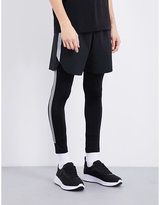 Blackbarrett Reflective-stripes Stretch-jersey Leggings