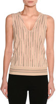 Missoni Sleeveless Space Cady Top, Neutral Pattern