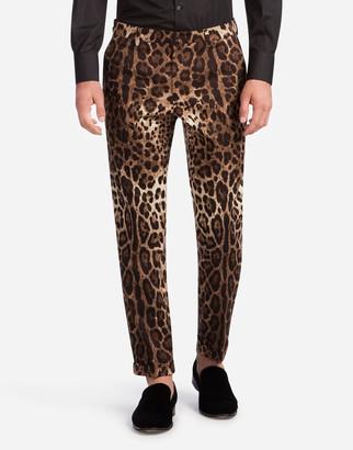 Dolce & Gabbana Printed Cotton Pants