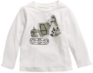 First Impressions Baby Boys Construction-Print Cotton T-Shirt