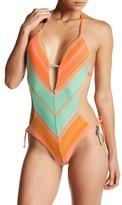 Vitamin A SoHo Chevron Maillot One Piece Swimsuit
