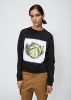 J.W.Anderson black lettuce sweatshirt