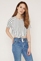 Forever 21 Contemporary Stripe Crop Top
