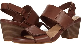 Clarks Lorene Bright (Tan Leather) Women's Shoes