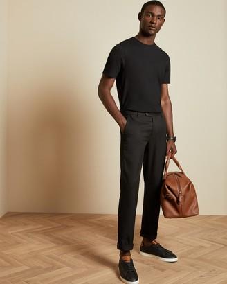 Ted Baker JAMIN Textured cotton blend T-shirt
