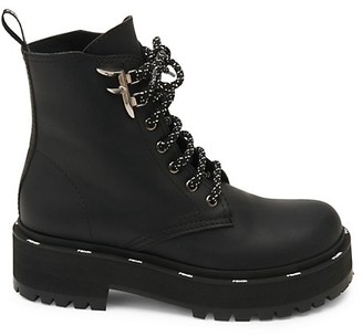 Fendi Leather Combat Boots