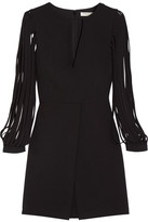 Halston Crepe Mini Dress - Black