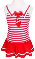 Pointss Girls' Swimsuit Stripe Swimwear One Piece Bathing Suit