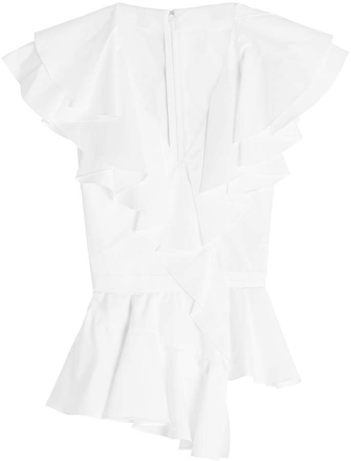 Alexander McQueen Cotton Blouse with Ruffles