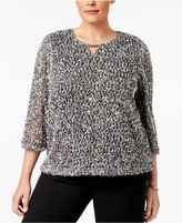 Alfred Dunner Plus Size Closet Case Collection Textured Top