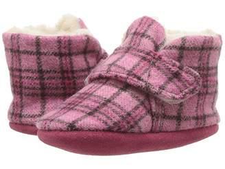 Minnetonka Kids Sawyer Bootie (Infant/Toddler) (Pink Plaid) Girls Shoes
