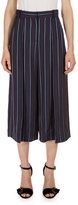 Erdem Tasia Striped Culottes, Plum/Blue