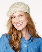 INC International Concepts Metallic Animal Print Knit Beret, Created for Macy's