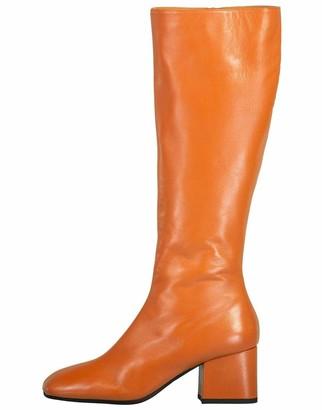 Marni Cinnamon Exposed Zipper Knee High Boot