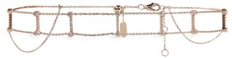 Djula Rose Gold And Diamond Graphic Choker Necklace