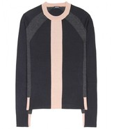 Jil Sander Navy Silk and cashmere-blend sweater