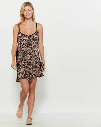 BCBGeneration Floral Side Tie Swim Cover-Up Dress