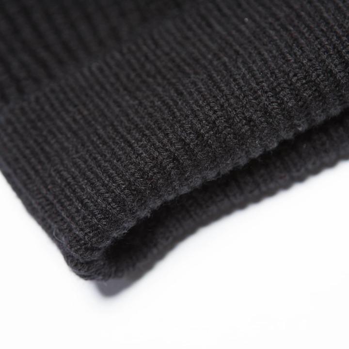 DSTLD Cashmere Blend Beanie in Black