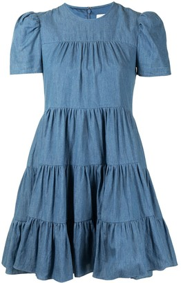 LIKELY Tiered Gathered Dress