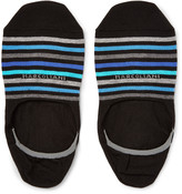 Marcoliani - Invisible Touch Striped Pima Cotton-blend No-show Socks