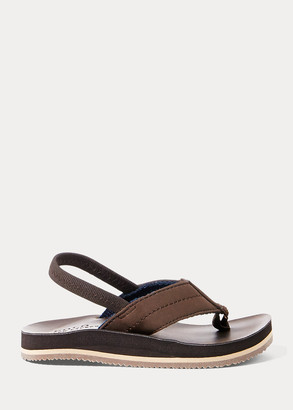 Ralph Lauren Leo Faux-Leather Flip-Flop