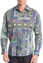 Robert Graham Abstract Print Cotton Shirt