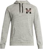 MAISON KITSUNÉ College-logo hooded cotton sweatshirt