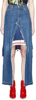 Vinti Andrews Remake track jacket panel denim skirt