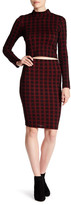 Necessary Objects Checkered Pencil Skirt