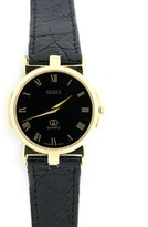 Gucci Vintage 3400F Gold Plated & Black Dial 31mm Womens Watch