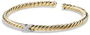 David Yurman X Cablespira Bracelet With Diamonds In 18K Gold, 4Mm