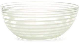 Yali Glass - A Nastro Large Glass Salad Bowl - White