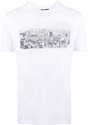 Emporio Armani Tokyo city print T-shirt