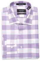 Nordstrom Men's Trim Fit Check Linen & Cotton Dress Shirt