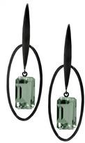 "Joan Hornig Matisse"" Green Amethyst Drop Earrings"