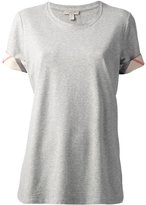Burberry 'House Check' cuffs T-shirt - women - Cotton/Spandex/Elastane - M