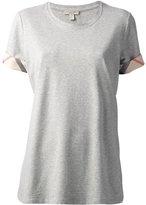 Burberry 'House Check' cuffs T-shirt - women - Cotton/Spandex/Elastane - XS