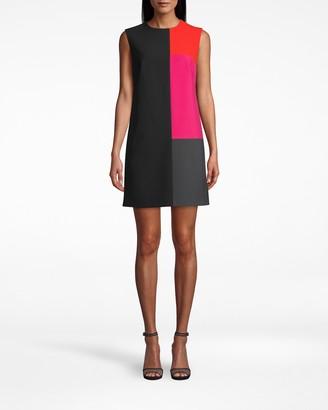 Nicole Miller Stretchy Tech Color Block Dress
