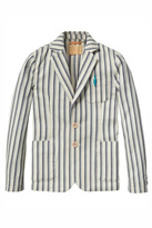 Scotch Shrunk Striped Cotton Blazer