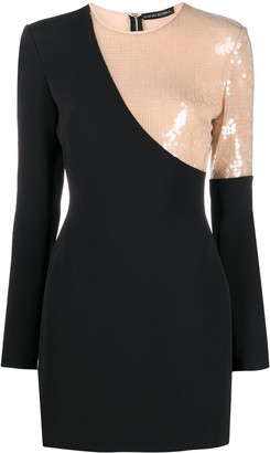 David Koma Sequin Panel Dress