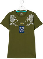 Armani Junior eagle print T-shirt