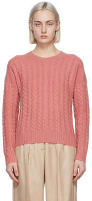 Max Mara Pink Wool and Cashmere Breda Sweater